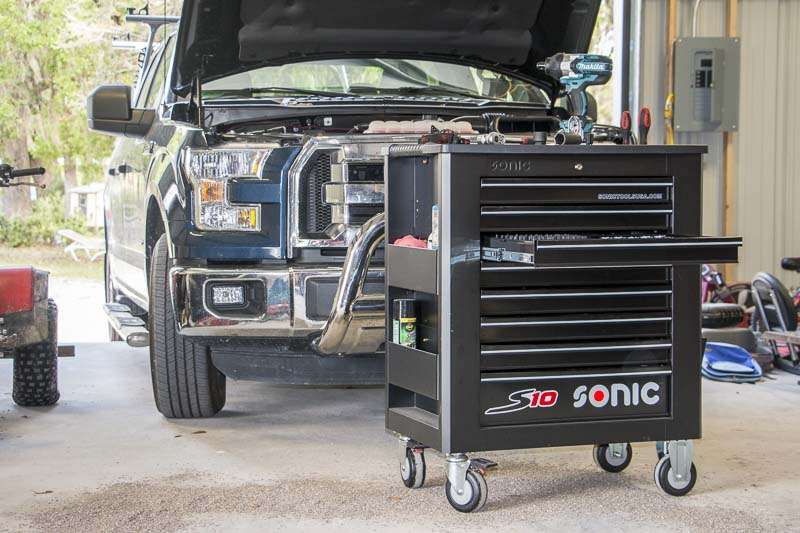 Sonic Tools S10 tool box truck