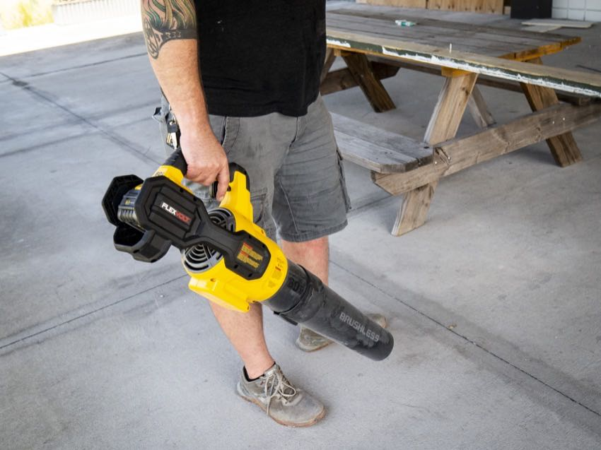 DeWalt 60V Blower In Use